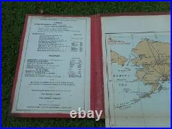 100% Original Large Cable Wireless World Folding Map On Cloth C1870/s Imperial