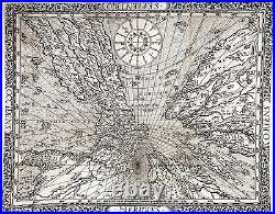 1640 Franz Ritter Map of the World Projected from the North Pole (Sundial Map)