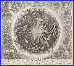 1665 Kircher Map of the Interior of the World withVolcanic and Water Systems