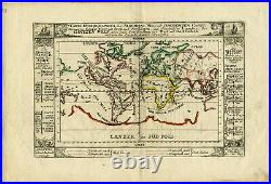 1704 Genuine Antique map of the World. California as Island. By G. Bodenehr