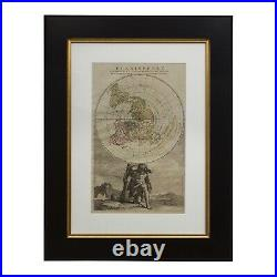1792 Hand-Colored Flat Earth Cassini Projection Map Planisphere Representant