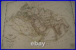 1847 ANTIQUE FRENCH ATLAS by DELAMARCHE / ATLAS GEOGRAPHIE OLD BOOK 37 FULL MAPS