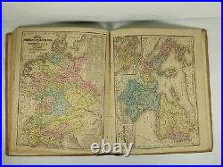 1858 MITCHELL'S SCHOOL ATLAS 18 Hand Colored GEOGRAPHY MAPS Pre CIVIL WAR TEXAS