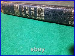 1864 Johnson New Illustrated Family Atlas of the World COMPLETE with 62 Maps RARE