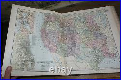 1894 Bacon Commercial & Library Atlas Of The World 100 Double Page Colour Maps