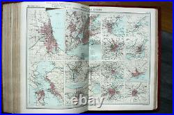 1st edition 1920 The Times Survey Atlas Of The World 112 Maps + Gazetteer Rare