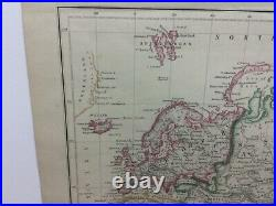 Antique 1860 The WORLD on Mercator's Projection MAP Old & Authentic