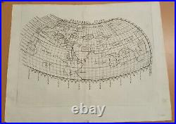 Antique Map Ptolemaei Typus Ruscelli 1564 Very Good Condition