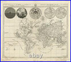 Antique World Map by Mortier (1700)