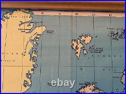 Extra Large Vintage Philips School Room Map Of The World Showing Commonwealth