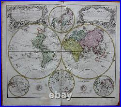 Homann Large Map of the World 1746