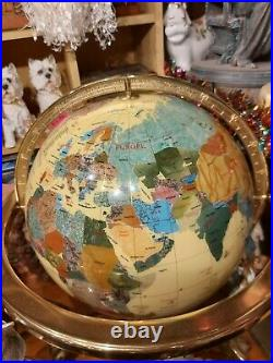 Large Mother of pearl and other semi precious gemstone Globe