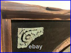 Large Witco World Map Mid Century Tiki Wooden Brutalist Metal 44x25