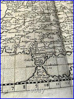 MAP OF NEW SPAIN 1564 from Girolamo Ruscelli PTOLEMY'S GEOGRAPHIA Atlas