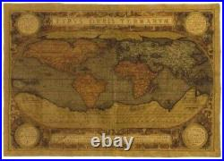 Mappemonde Antique Map Of The World 54 X 38 138cm X 97cm Tapestry Wall Hanging