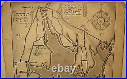 NEWPORT RHODE ISLAND World War 2 Military PICTORIAL MAP Painting Illustration