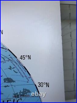 Nystrom 1SR991 World & USA markable PULL-DOWN MAP