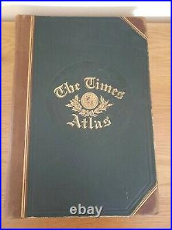 Rare 1899 Leather Bound The Times Atlas Printing House Square London