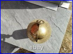Rare French Bronze and marble World Desk Globe clock dial sphere terrestrial