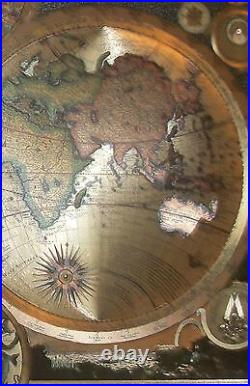 Reproduction-Antique Map of the World By Adam Friedrich Zurner 1700 (c)Amsterdam