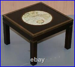Stunning Coffee & Side Table Nest Of Tables Military Campaign With World Maps