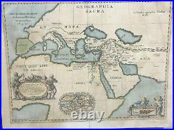Superb 1652 map of the ancient world, Ortelius