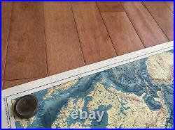 The Floor Of The Oceans Geographical Society World Map