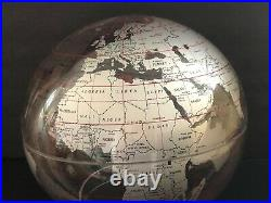 VINTAGE WORLD GLOBE Beefeater Gin Advertising Globe Lucite Spherical Concepts