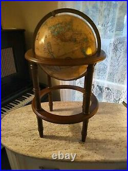Vintage 12 Crams Imperial World Globe On 19 Powell Wood Stand