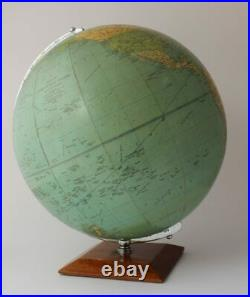 Vintage 13.5 Inch Philips Challenge Globe On Wood Base 1966. Home Office Decor