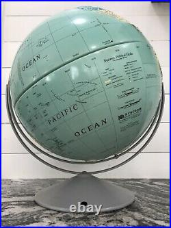 Vintage NYSTROM GLOBE HIGH RELIEF LARGE WORLD SCULPTURAL MAP # 34-37