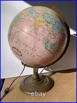 Vintage PINK Replogle Globe World Classic lighted illuminated withstand