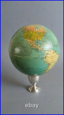 Vintage Philips London Library Terrestrial Globe 6 (1958) World Map Sans Stand