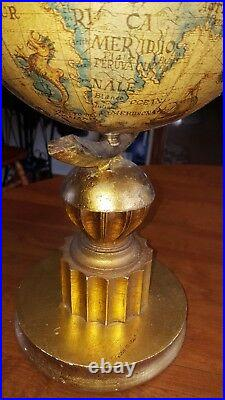 Vintage World Globe Pauls Lamps With Tags