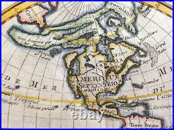 World Map Dated 1769 Unusual Antique Engraved Map 18th Century