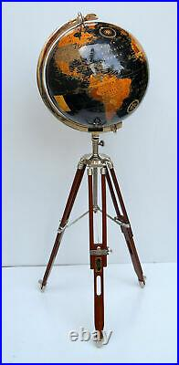 World globe 18 with floor wooden tripod stand useful at home office school item